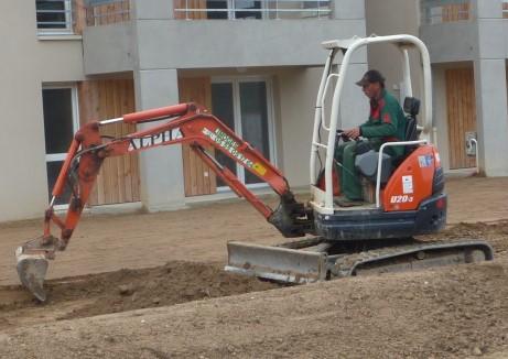 amenagement d'espace et engins de chantier